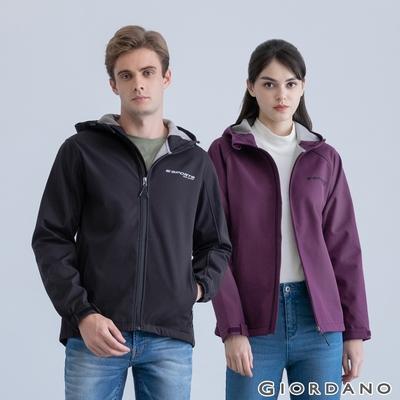 【時時樂】GIORDANO 男/女裝高機能胸前刺繡連帽外套 (多色任選)