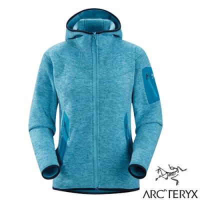 始祖鳥 Polartec女Covert Hoody 羽量級連帽保暖刷毛外套_礁藍-