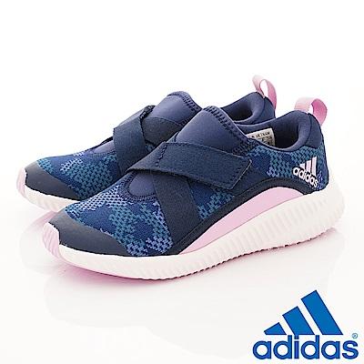 adidas童鞋 輕量運動鞋 BFO1788藍粉(中大童段)