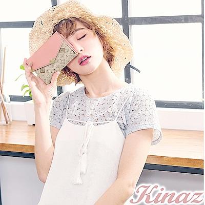 KINAZ 鏡中美人三折式中夾-粉系戀曲-莊園系列