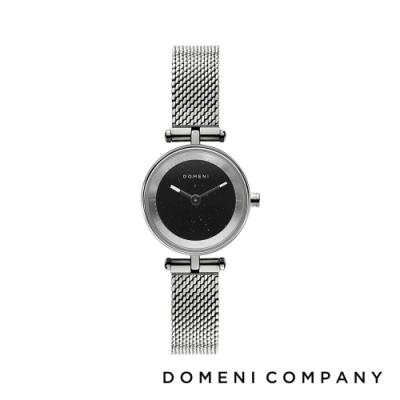DOMENI COMPANY 星空錶盤系列 經典米蘭錶帶 銀錶框 -黑/22mm