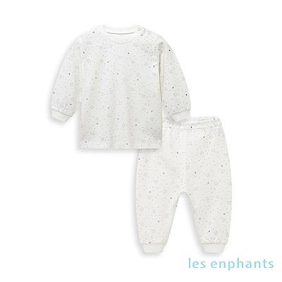 les enphants 天絲系列半高領套裝 白色
