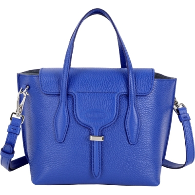 TOD'S Joy Bag T釦牛皮手提肩背包(寶藍色)