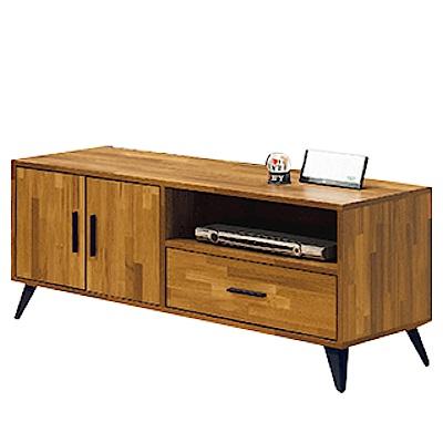 綠活居 尼亞時尚4尺木紋電視櫃/視聽櫃(二色可選)-120X40X50cm-免組