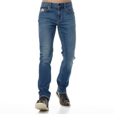 Lee 牛仔褲 722 低腰合身直筒 男 中藍 彈性