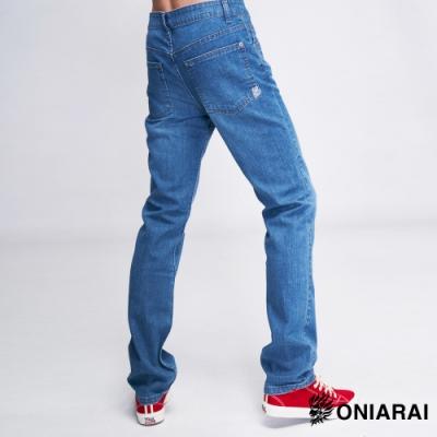 鬼洗 BLUE WAY-鬼洗彈力中腰直筒褲