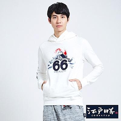 EDWIN EDO KATSU江戶勝 富士山66 連帽T恤-男-米白
