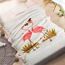 Carolan-愛情鳥 雙層加厚 法萊/羊羔絨童毯(100x140cm)