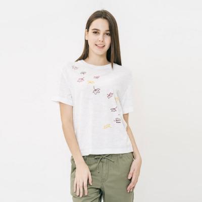 女裝Roots- 彩色楓葉短袖T恤-白
