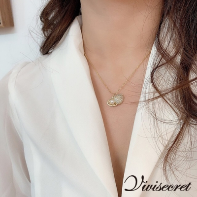 VIVI SECRET 韓版貝殼珍珠造型項鍊