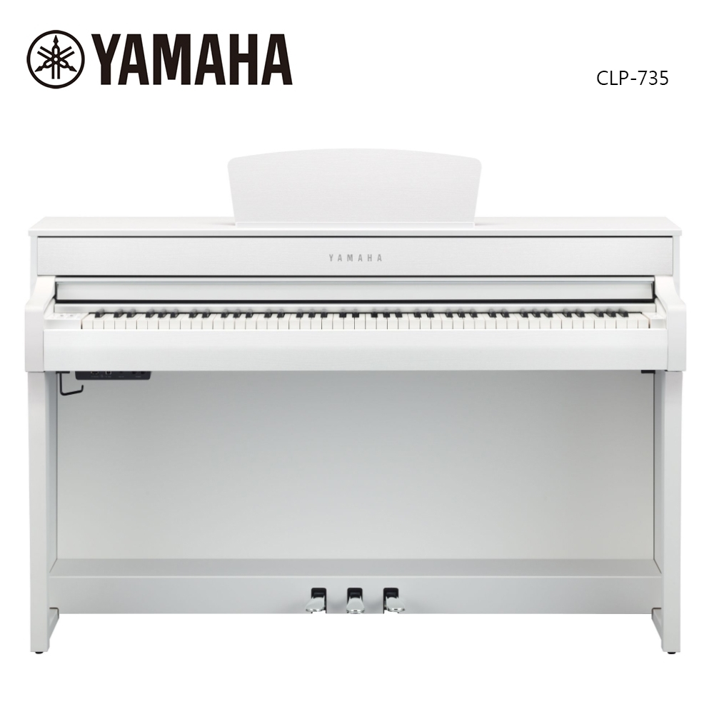 YAMAHA CLP-735 WH 數位電鋼琴 88鍵 典雅白色款