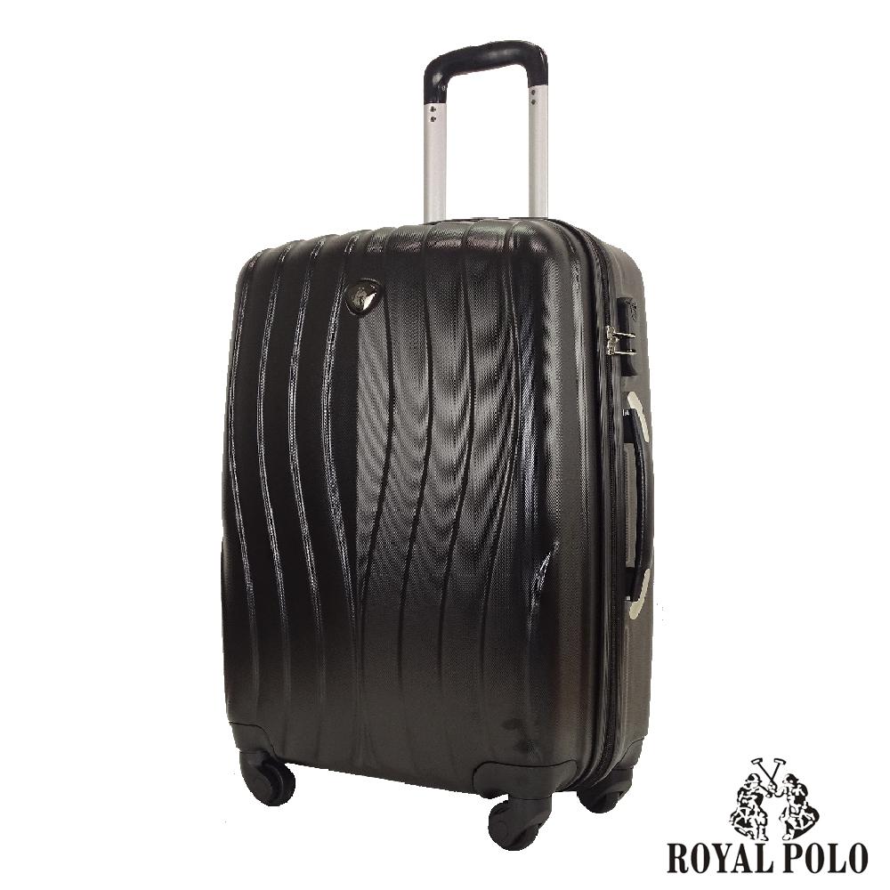 ROYAL POLO  24吋  凌波微舞ABS硬殼拉鍊箱/行李箱 (尊爵黑)