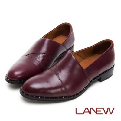 LA NEW SO Lite 彈力減壓 紳士風格 低跟樂福鞋 懶人鞋(女225044150)