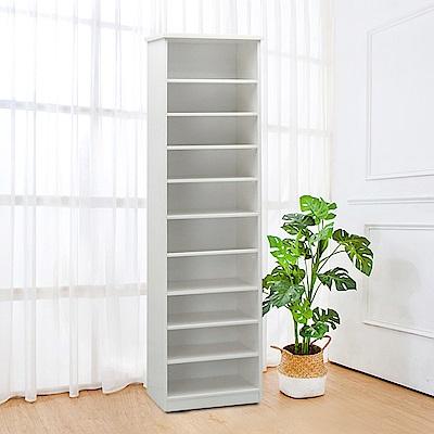Boden-防潮防蛀塑鋼1.7尺開放式高鞋櫃(四色可選)-50x34x180cm