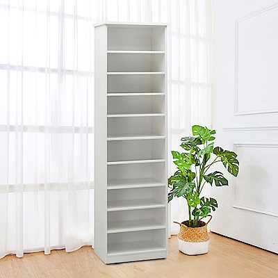 Bernice-防潮防蛀塑鋼1.7尺開放式高鞋櫃(四色可選)-50x34x180cm