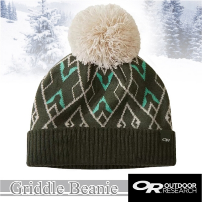 Outdoor Research 新款 Griddle Beanie 羊毛冬日復古小圓球毛帽.保暖針織帽.毛線帽.羊毛帽_冷杉綠