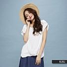 【KiKi】交錯設計造型袖-上衣(黃色)