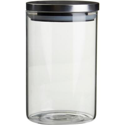 《Premier》玻璃密封罐(亮銀950ml)