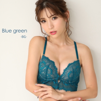 aimerfeel 性感拱型蕾絲露背內衣-藍綠色-599413-BG