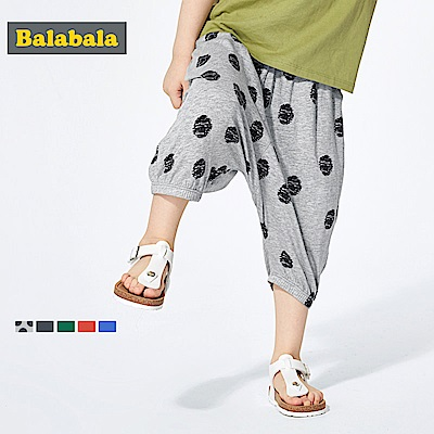 Balabala巴拉巴拉-莫代爾棉七分飛鼠寬褲-男(3色)