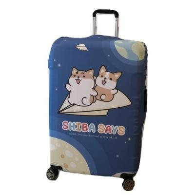 【柴語錄授權限量款 】CS0301L夢想款L號26-29加厚款彈力拉桿箱保護套 行李箱套