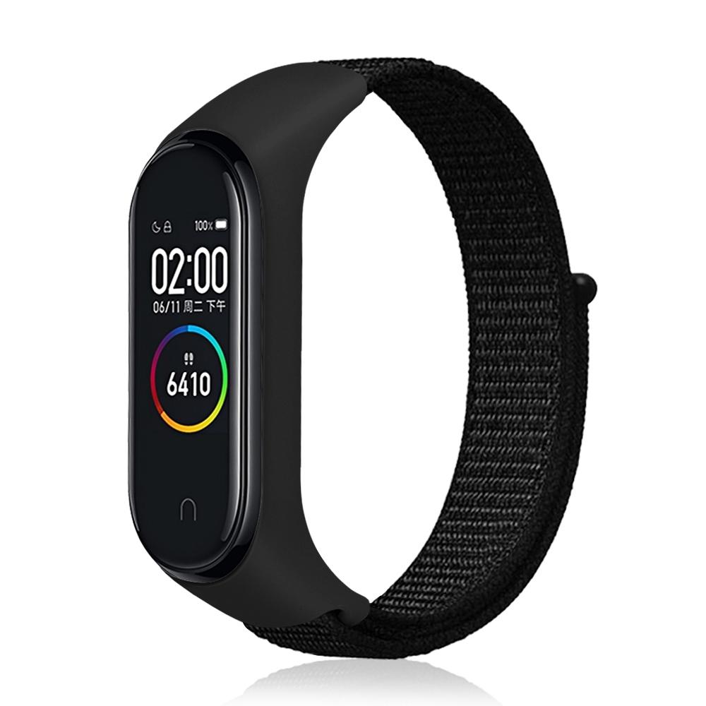 小米手環3/4 腕帶 替換帶 尼龍編織回環式錶帶 透氣舒適 運動智能錶帶 product image 1