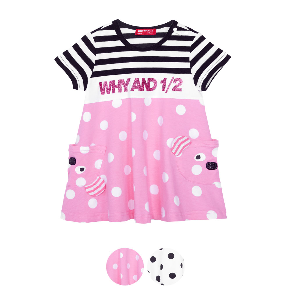 WHY AND 1/2 mini 點點棉質萊卡洋裝 1Y~4Y 多色可選