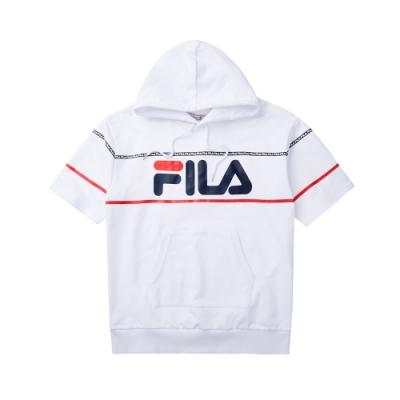 FILA #LINEA ITALIA 短袖連帽T袖-白 1TET-5411-WT