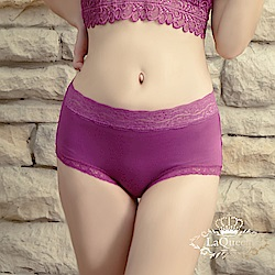 內褲  超柔軟親膚蕾絲褲-深紫 La Queen