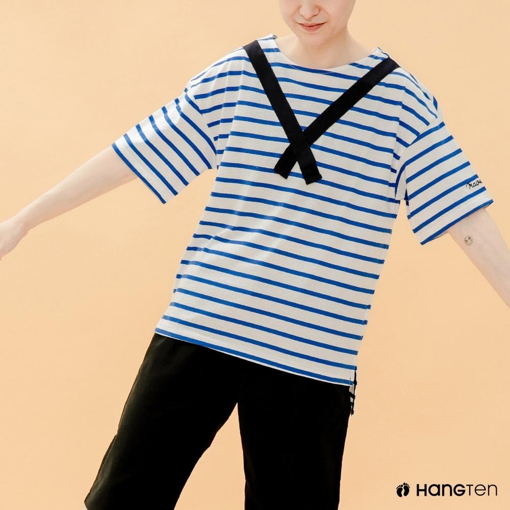 Hang Ten- 青少童裝-海洋氣息涼爽T恤-藍