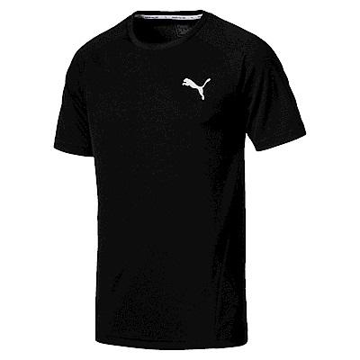 PUMA-男性基本系列Evostripe小跳豹短袖T恤-黑色-亞規