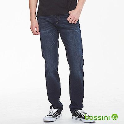bossini男裝-四向彈性牛仔褲牛仔藍