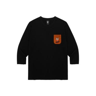 CACO-蛋頭口袋七分T-男【UDI104】