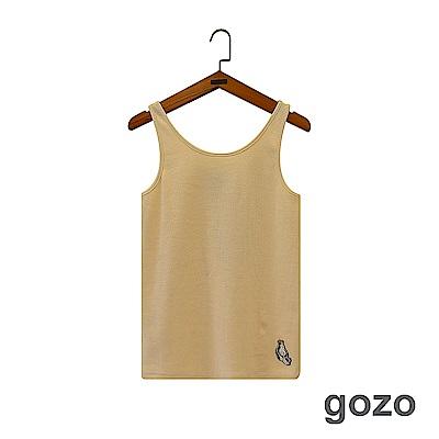 gozo 雙人抱抱繡線印花造型背心(三色)