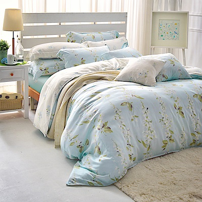 MONTAGUT-晴空下的白藤花-200織紗Formtex兩用被床包組(加大)