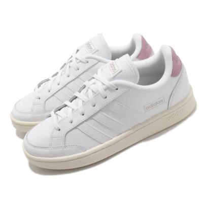 adidas 休閒鞋 Grand Court 運動 女鞋 愛迪達 基本款 簡約 舒適 穿搭 白 粉 FY8673