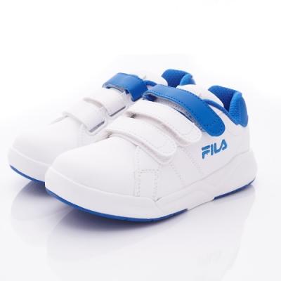FILA頂級童鞋 韓系復古鞋款 EI10T-133白藍(中大童段)