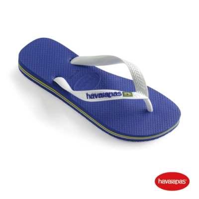 Havaianas 哈瓦仕 拖鞋 夾腳拖 人字拖 巴西國旗 巴西 男鞋 女鞋 海洋藍 4110850-2711U Brasil Logo