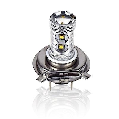 【車的LED】H4 魚眼 10LED 白光 50W(雙入組)
