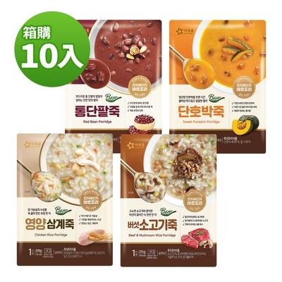 【韓味不二】韓國原裝 粥品10入組(口味任選)270gx10包