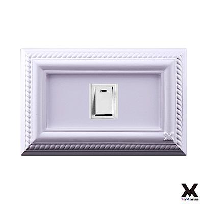 VaMarssa四方匯財 冷漿陶瓷 單孔插座開關蓋(卡準式-紫)