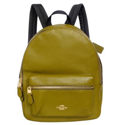 COACH MEDIUM CHARLIE橄欖綠全皮後背包