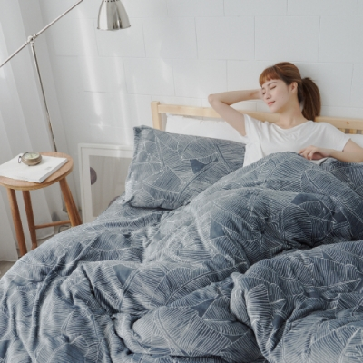 BUHO 極柔暖法蘭絨雙人床包三件組(城市森影)