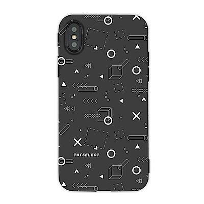 【TOYSELECT】iPhone X/ Xs TEN%圈叉設計手機殼:黑
