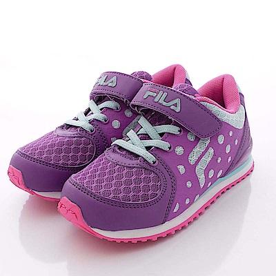 FILA頂級童鞋款 MD輕量慢跑款 FO06P-923紫藍桃(中大童段)0