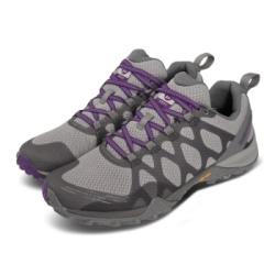 Merrell 戶外鞋 Siren 3 GTX 運動 女鞋 登山 越野 耐磨 支撐 黃金大底 防潑水 灰 紫 ML033896