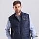 oillio歐洲貴族 男裝 防風超柔背心外套 內側大口袋設計 簡約圖標 藍色 product thumbnail 1