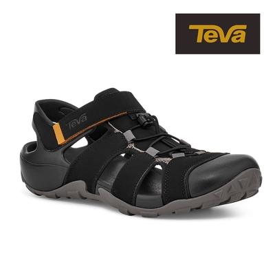 【TEVA】原廠貨 男 Flintwood 護趾快扣冒險者運動涼鞋/雨鞋/水鞋(黑色-TV1118941BLK)
