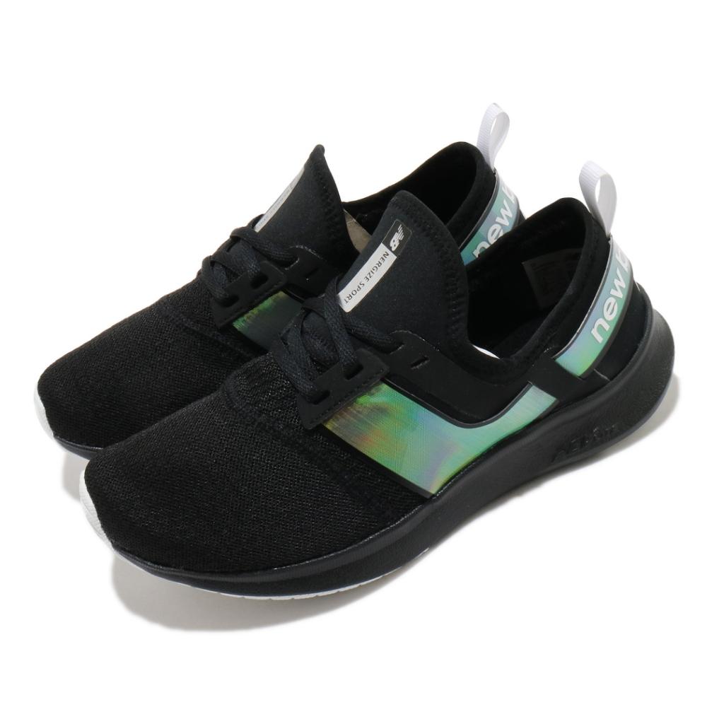 New Balance 慢跑鞋 Nergize Sport 寬楦 襪套 女鞋 紐巴倫 輕量 透氣 舒適 避震 路跑 黑 白 WNRGSBD1D