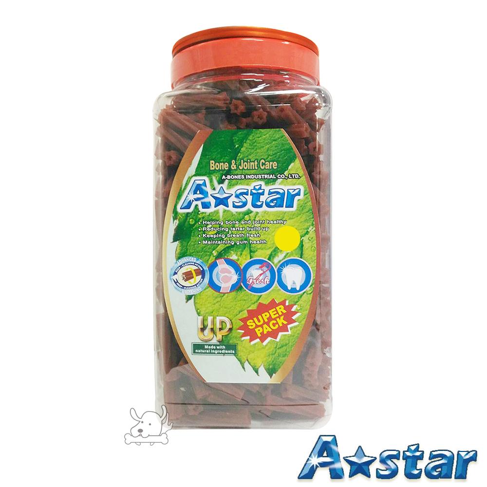 A Star Bones 保健骨骼 空心六星棒潔牙骨 超大桶裝 2000g X 1罐